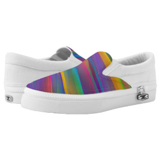 Vibrant Rainbow Psychedelic Printed Shoes