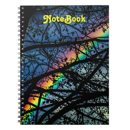 Vibrant Rainbow   Spring Tree Notebook