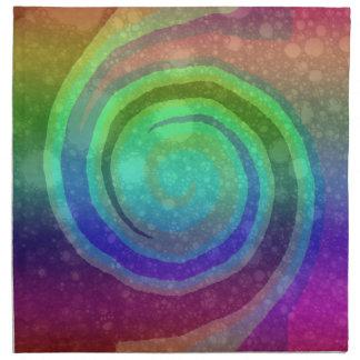 Vibrant Rainbow Swirl Colorful Napkin