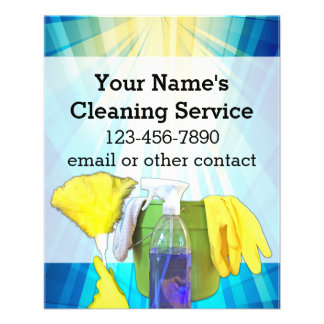 Vibrant Rays Custom Cleaning Service Business Custom Flyer