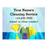 Vibrant Rays Custom Cleaning Service Business Postcard