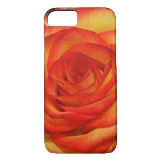 Vibrant Red and Peach Rose Macro Photo iPhone 7 Case