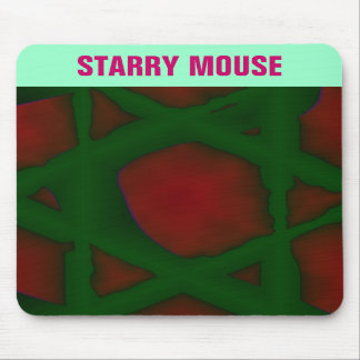 Vibrant Red Green Mousepad
