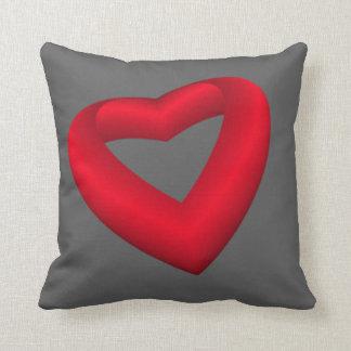 Vibrant Red Heart Cushion