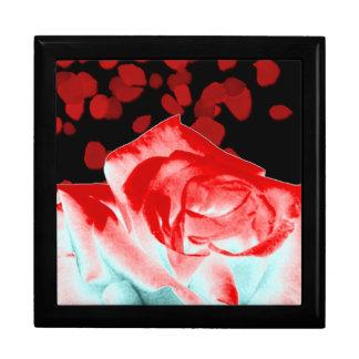 Vibrant Red Rose Gift Box