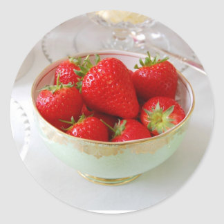 Vibrant Red Strawberry Stickers