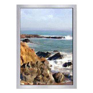 Vibrant Rocks Sea and Ocean Foam 13 Cm X 18 Cm Invitation Card