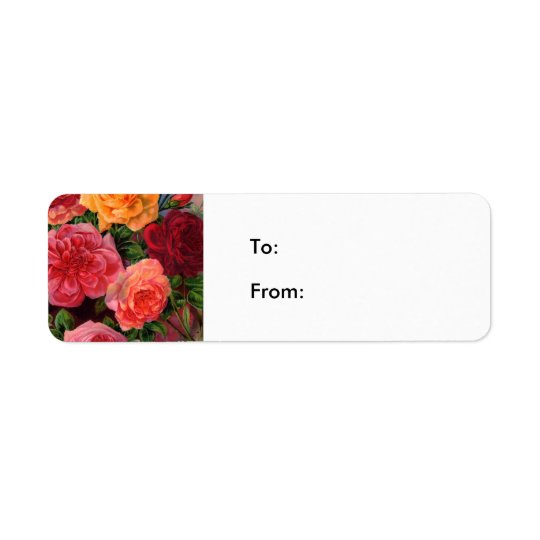 Vibrant Roses Return Address Label