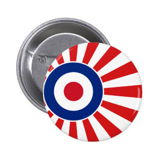 Vibrant Roundel Mods JAPAN Target Scooter 6 Cm Round Badge