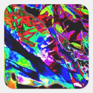 Vibrant Scatter Square Sticker