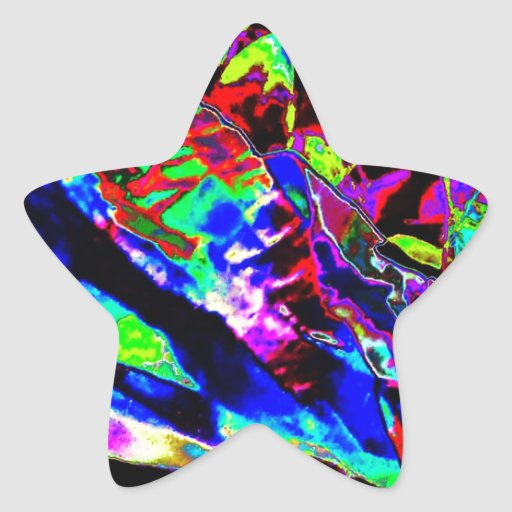 Vibrant Scatter Star Stickers