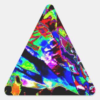 Vibrant Scatter Triangle Sticker