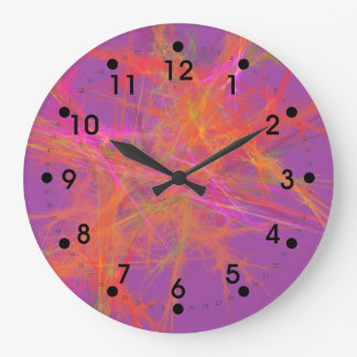 Vibrant Spanish Fire Round Clock