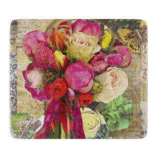 Vibrant Spring Flowers Cutting Board
