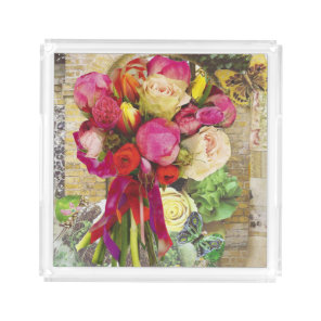 Vibrant Spring Flowers Tray