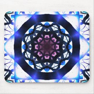 Vibrant Star Light Mandala Mouse Mat