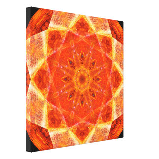 Vibrant Star Mandala Canvas Print