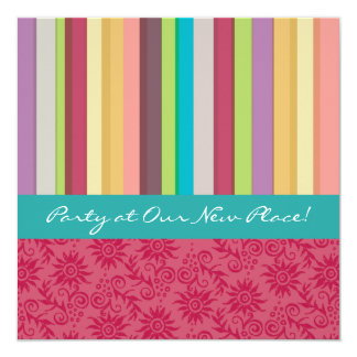 Vibrant Stripes Invitation