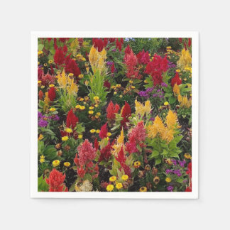 Vibrant Summer Flower Garden in Orlando Florida Paper Serviettes