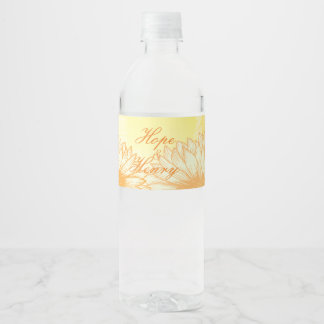 Vibrant Sunflowers Water Bottle Label