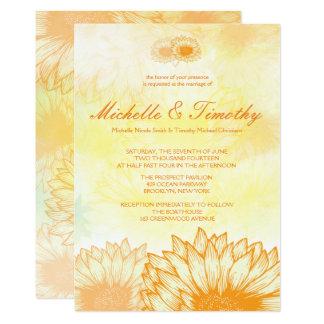 Vibrant Sunflowers Wedding Invitations