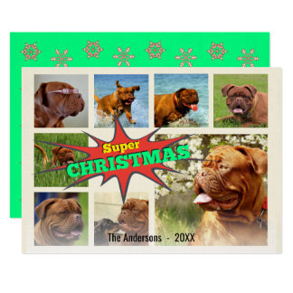 Vibrant Super Christmas Speech Bubble Hero Collage Card