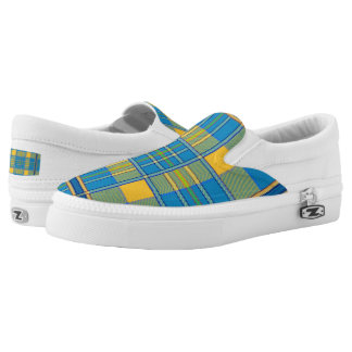Vibrant Tartan Plaid Slip On Shoes