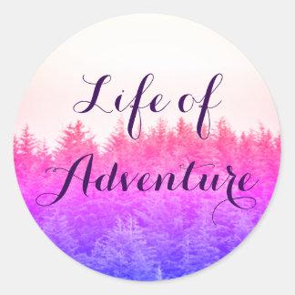 Vibrant Trees Adventure Stickers