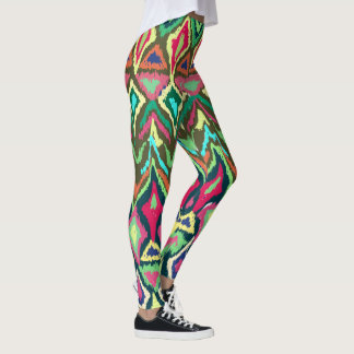 Vibrant Tribal Pattern Leggings