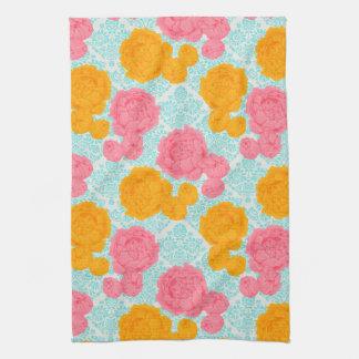 Vibrant Tropical Vintage Floral Tea Towel