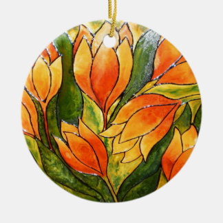 VIBRANT TULIPS CHRISTMAS ORNAMENT