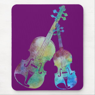 Vibrant Violin and Viola Duet Mouse Pad
