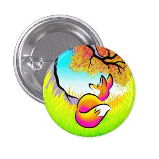 Vibrant Vulpes 3 Cm Round Badge