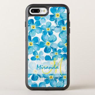 Vibrant watercolor blue forget me not flowers name OtterBox symmetry iPhone 8 plus/7 plus case