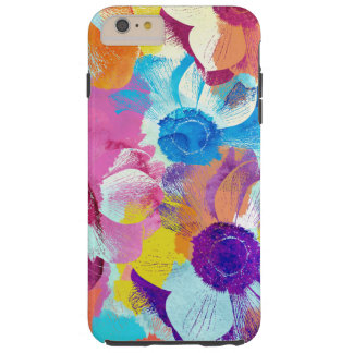 Vibrant Watercolor Painted Anemone Flower Tough iPhone 6 Plus Case