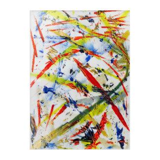 Vibrant white acrylic print