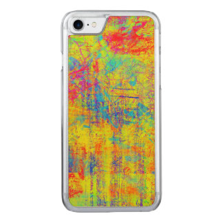 Vibrant Yellow Abstract Art Design Carved iPhone 8/7 Case