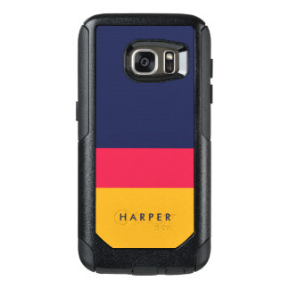 Vibrant Yellow Pink Blue Color Block Modern OtterBox Samsung Galaxy S7 Case