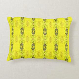 Vibrant Yellow Seamless Pattern Decorative Cushion