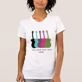 Vibrantly Colored Guitars Women's Shirt