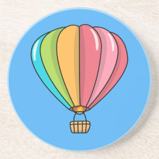 Vibrantly Colored Hot Air Balloon Drink Coaster