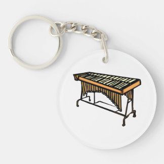 vibraphone simple instrument design.png Double-Sided round acrylic key ring