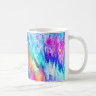 Vibrating Glitch Rainbow Coffee Mug