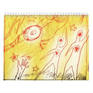 vibrations wall calendar