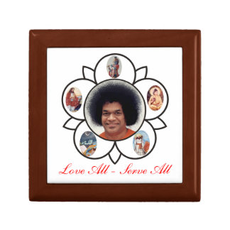 Vibuthi Box Love All - Serve All Sathya Sai Baba