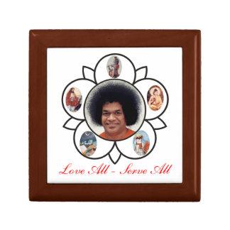 Vibuthi Box Love All - Serve All Sathya Sai Baba Small Square Gift Box