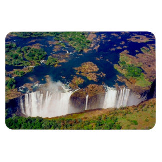 vic falls aerial rectangular photo magnet