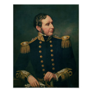 Vice Admiral Robert Fitzroy Poster