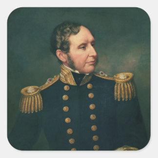 Vice Admiral Robert Fitzroy Square Sticker