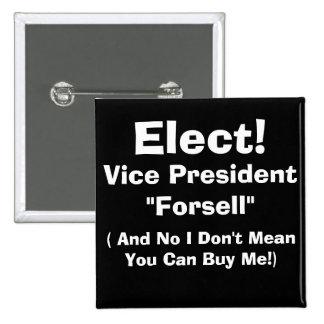 Vice President 15 Cm Square Badge